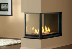 HL38DF-PFC Peninsula Fireplace