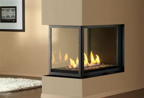 HL38DF-PFC Peninsula Fireplace