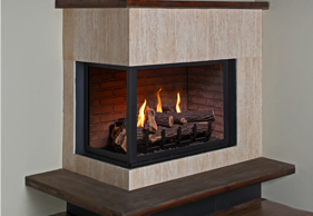 HP38DF-CL Corner Left Fireplace