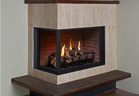 HP38DF-CL Corner Left Fireplace